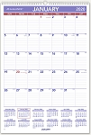 AT-A-GLANCE 2020 Monthly Wall Calendar 15 1/2