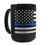 Thin Blue Line American Coffee Mug, 11 Ounce