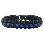 Paracord Survival Bracelet, Thin Blue Line