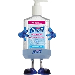PURELL Pump Hand Sanitizer Soothing Gel Kills 99.99% of Germs that cause illness.