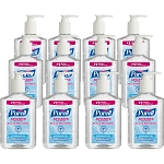 PURELL 12 8oz Pump Hand Sanitizer Soothing Gel Kills 99.99% of Germs that cause illness GOJ965212CT