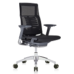 Eurotech POWERFIT CHAIR WITH APP The next generation of Ergonomic comfort Charcoal frame - All mesh (BLACK) PFT2-BLK-MBLK
