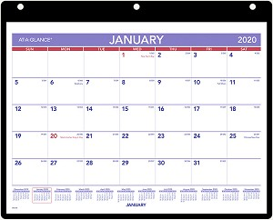 Cricut January 2020 Calendar 8x11 AT A GLANCE 2020 Monthly Wall Calendar 8 1/8